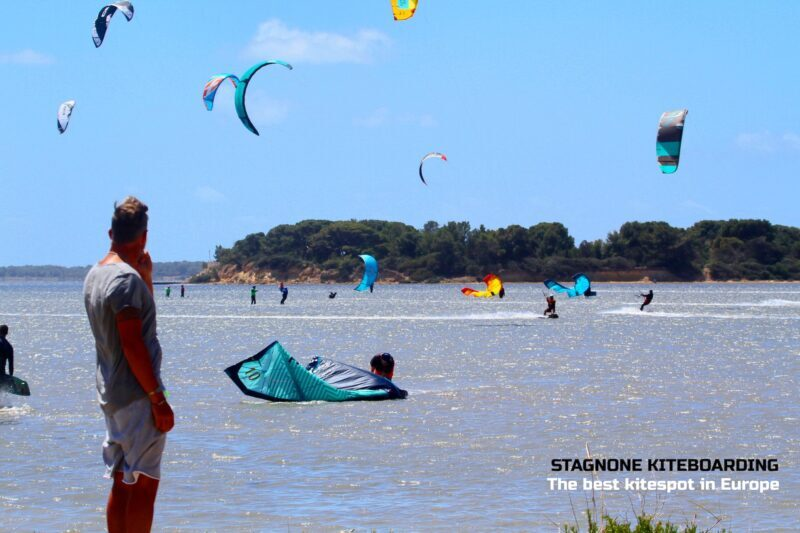 Uscita facilitata da una piccola spiaggia allo Stagnone
